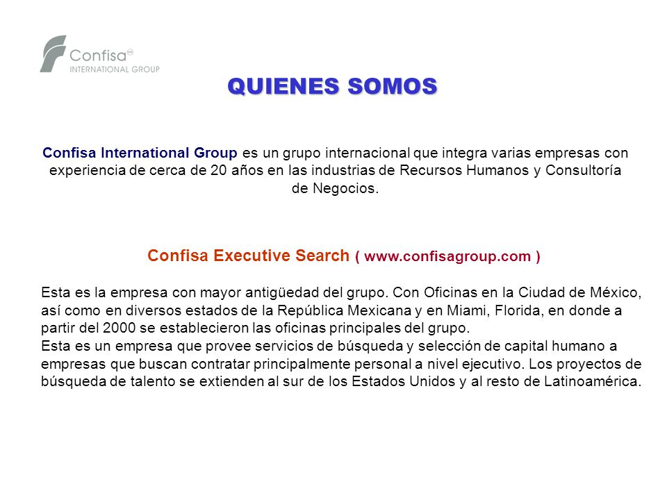 Confisa Executive Search (   )