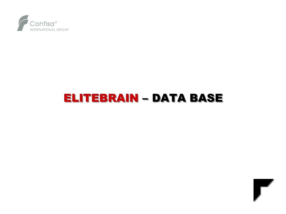 ELITEBRAIN – DATA BASE