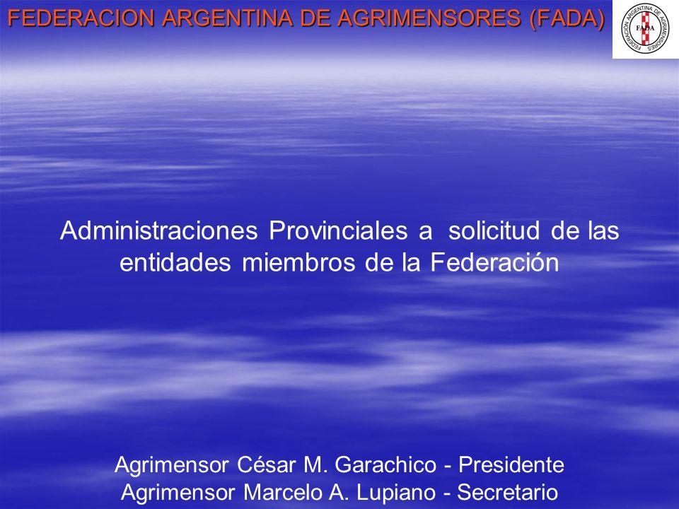 FEDERACION ARGENTINA DE AGRIMENSORES (FADA)