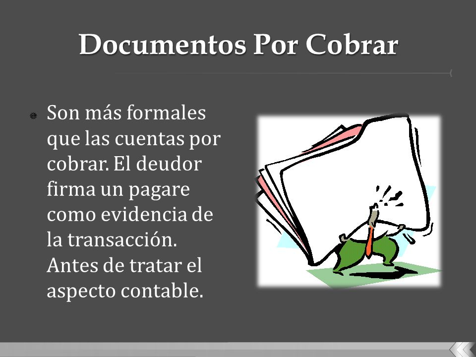Documentos Por Cobrar
