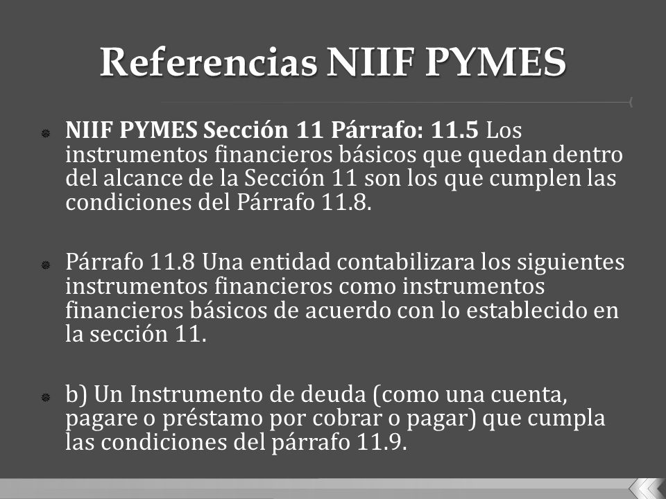Referencias NIIF PYMES