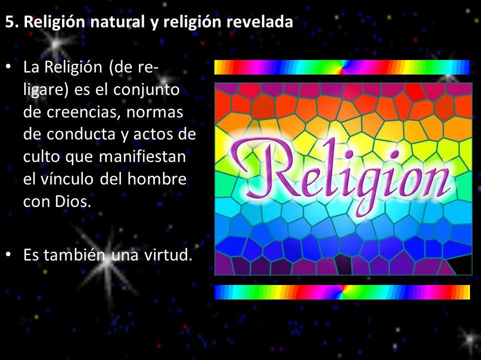 5. Religión natural y religión revelada