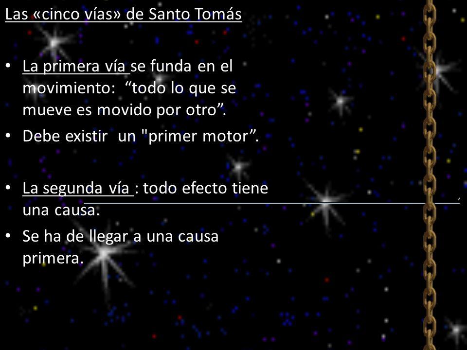 Las «cinco vías» de Santo Tomás