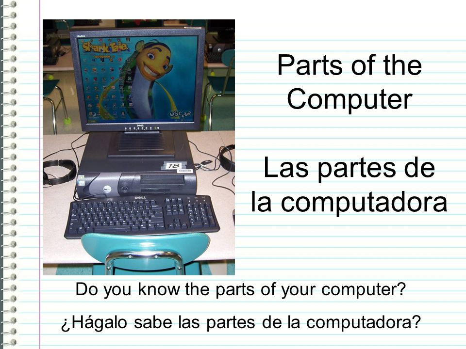 Parts of the Computer Las partes de la computadora
