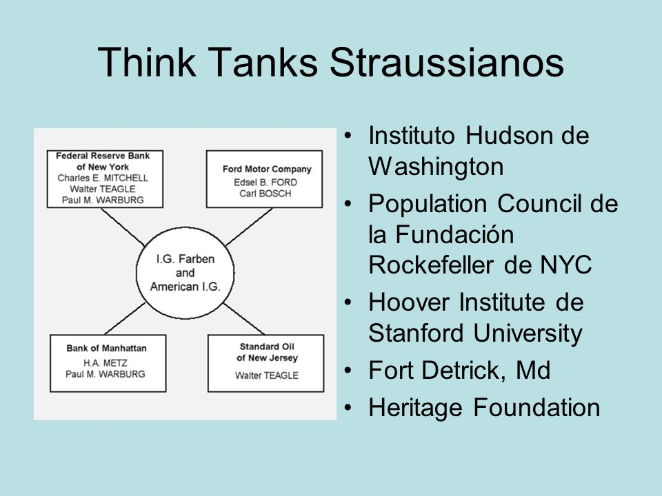 Think Tanks Straussianos