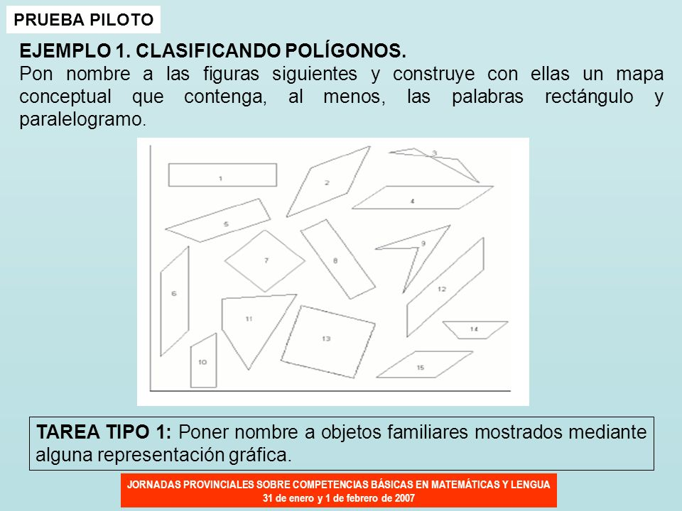 EJEMPLO 1. CLASIFICANDO POLÍGONOS.