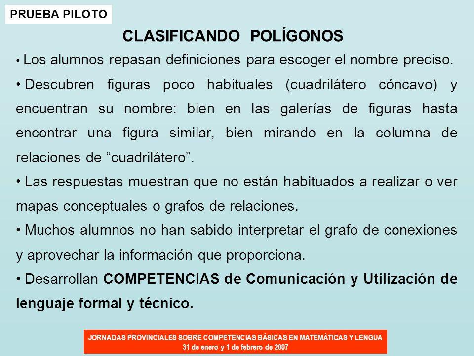 CLASIFICANDO POLÍGONOS