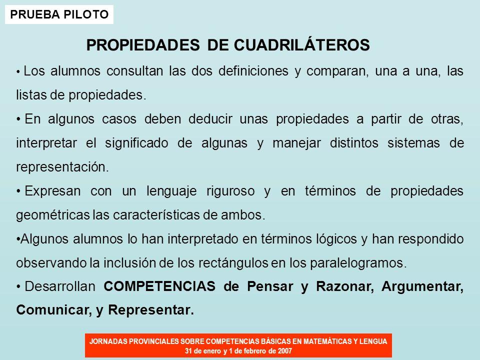 PROPIEDADES DE CUADRILÁTEROS