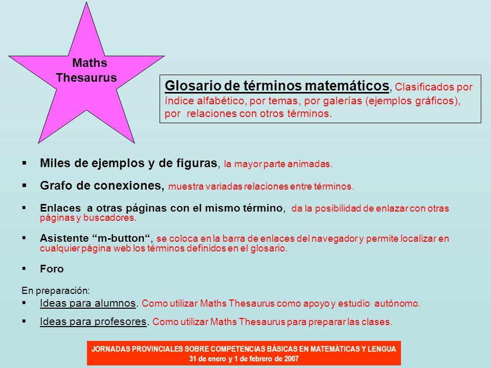 Glosario de términos matemáticos, Clasificados por