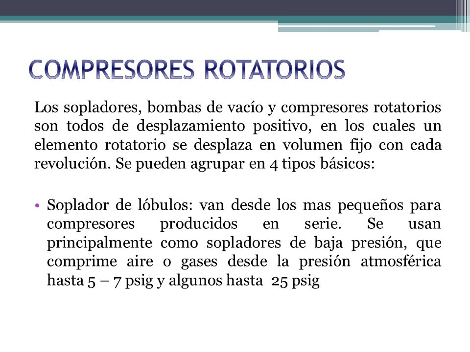 COMPRESORES ROTATORIOS