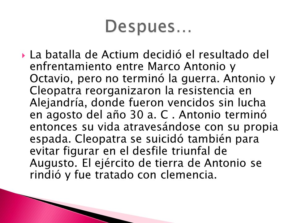 Despues…
