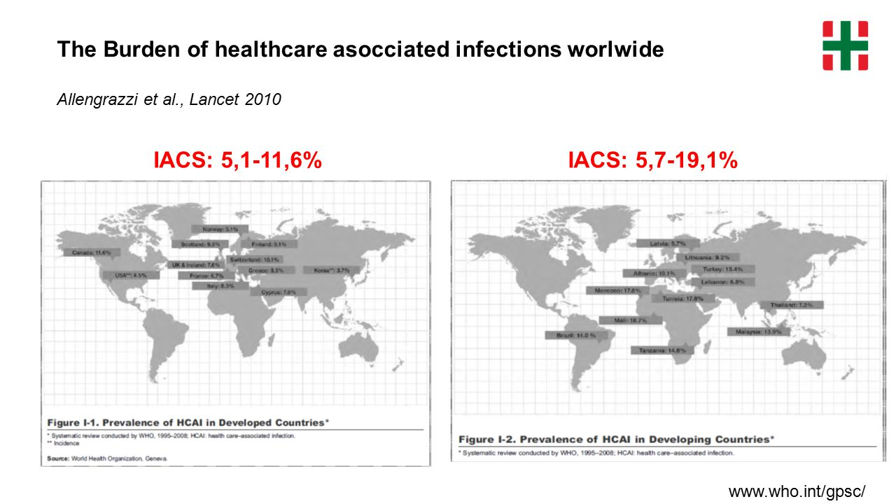 The Burden of healthcare asocciated infections worlwide