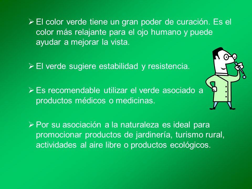 el color verde tiene un gran poder de curacin