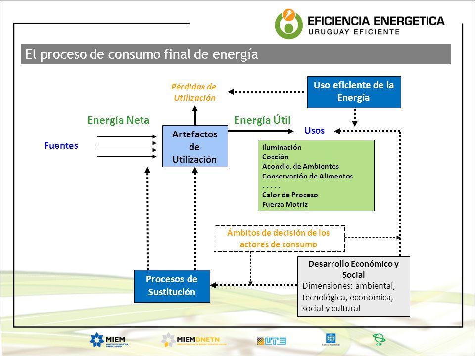 El proceso de consumo final de energía