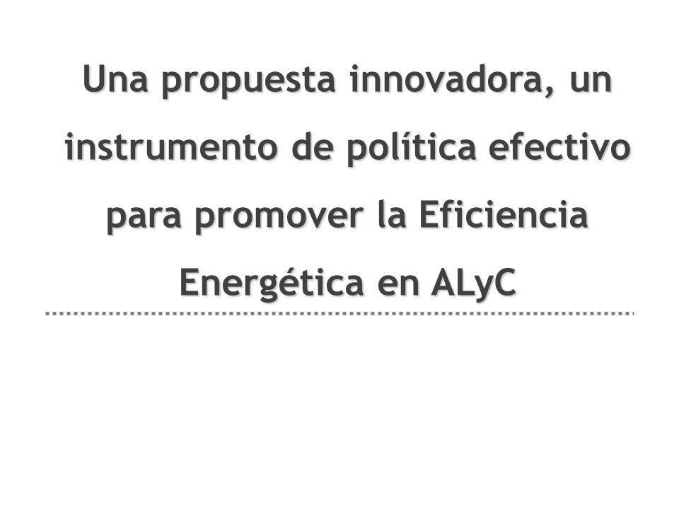Una propuesta innovadora, un instrumento de política efectivo para promover la Eficiencia Energética en ALyC
