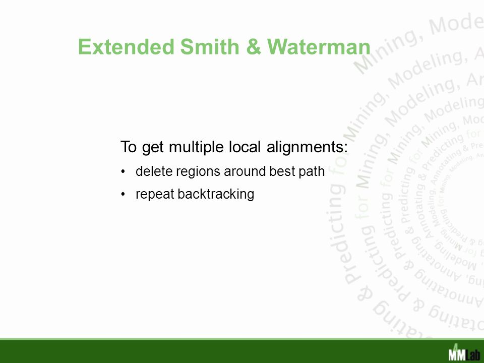Extended Smith & Waterman