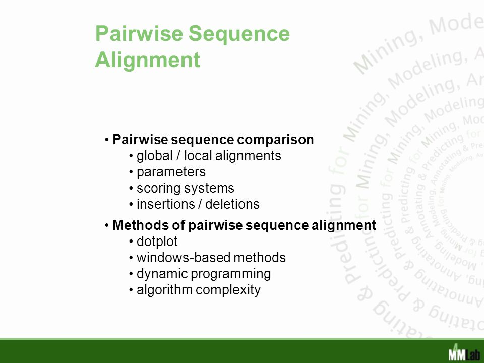 Pairwise Sequence Alignment