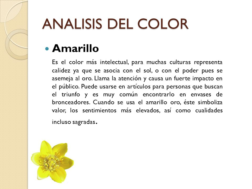ANALISIS DEL COLOR Amarillo