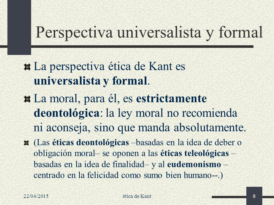 Perspectiva universalista y formal