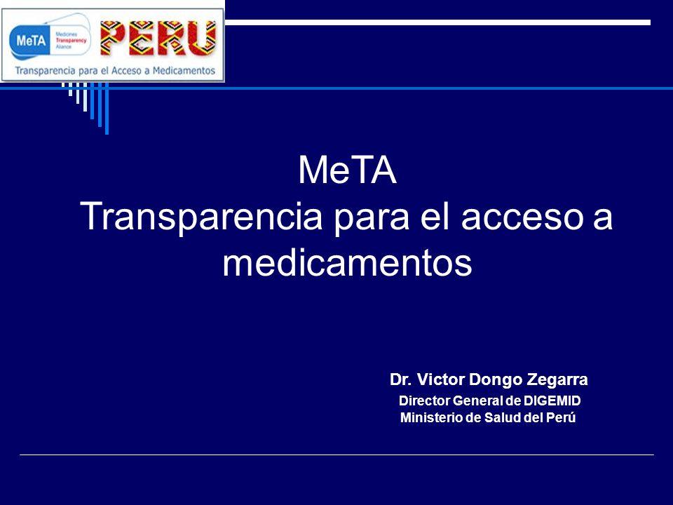 MeTA Transparencia para el acceso a medicamentos