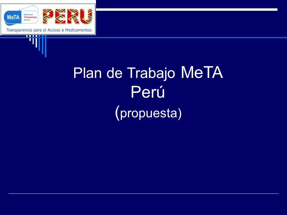 Plan de Trabajo MeTA Perú (propuesta)