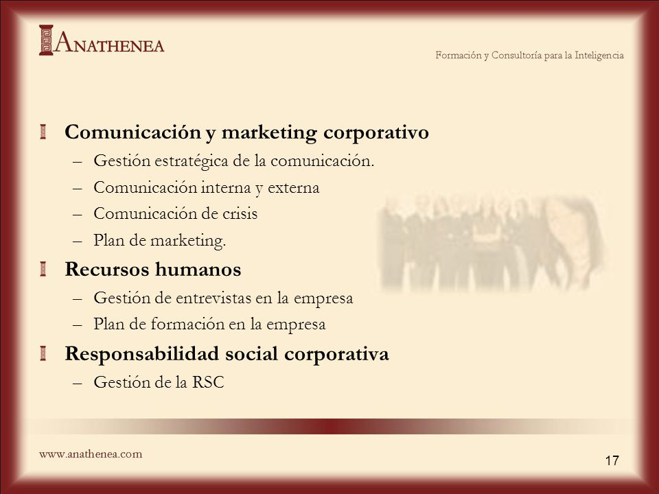 Comunicación y marketing corporativo