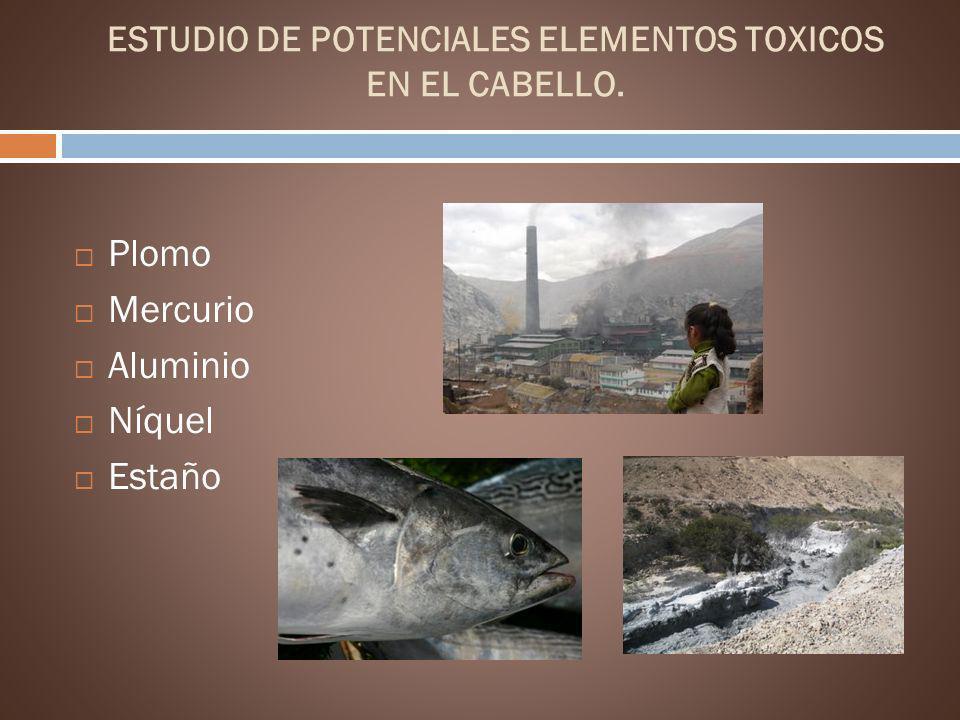 ESTUDIO DE POTENCIALES ELEMENTOS TOXICOS EN EL CABELLO.