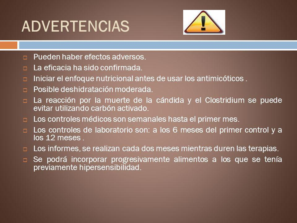 ADVERTENCIAS Pueden haber efectos adversos.