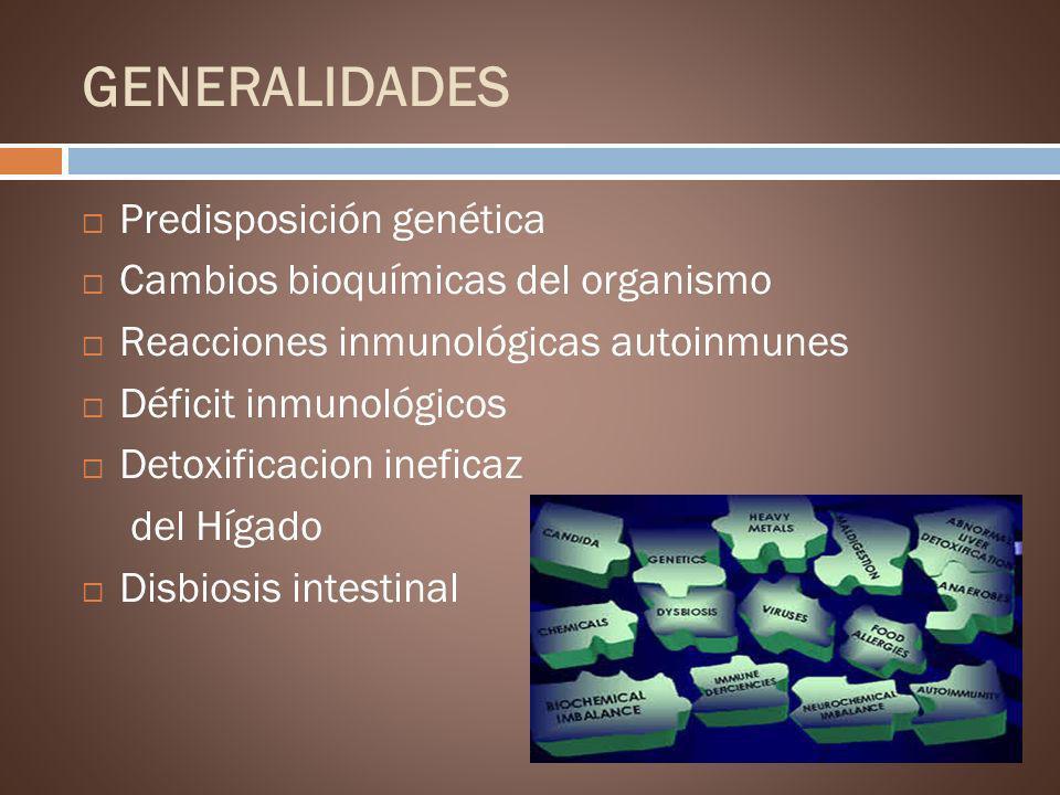 GENERALIDADES Predisposición genética