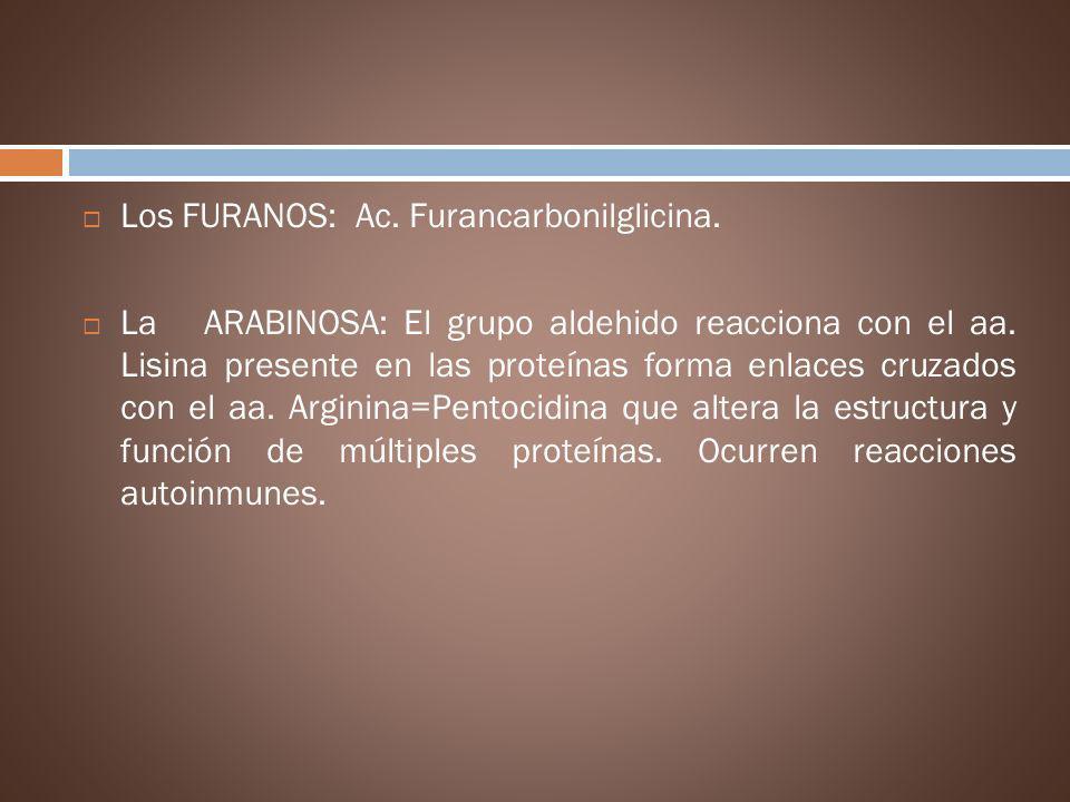 Los FURANOS: Ac. Furancarbonilglicina.