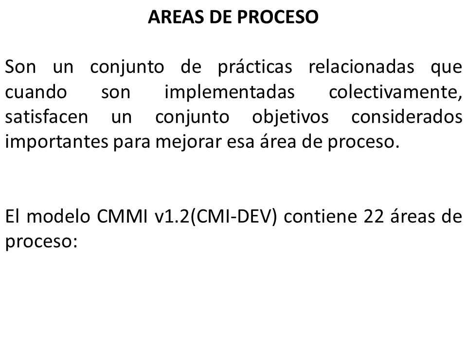 AREAS DE PROCESO