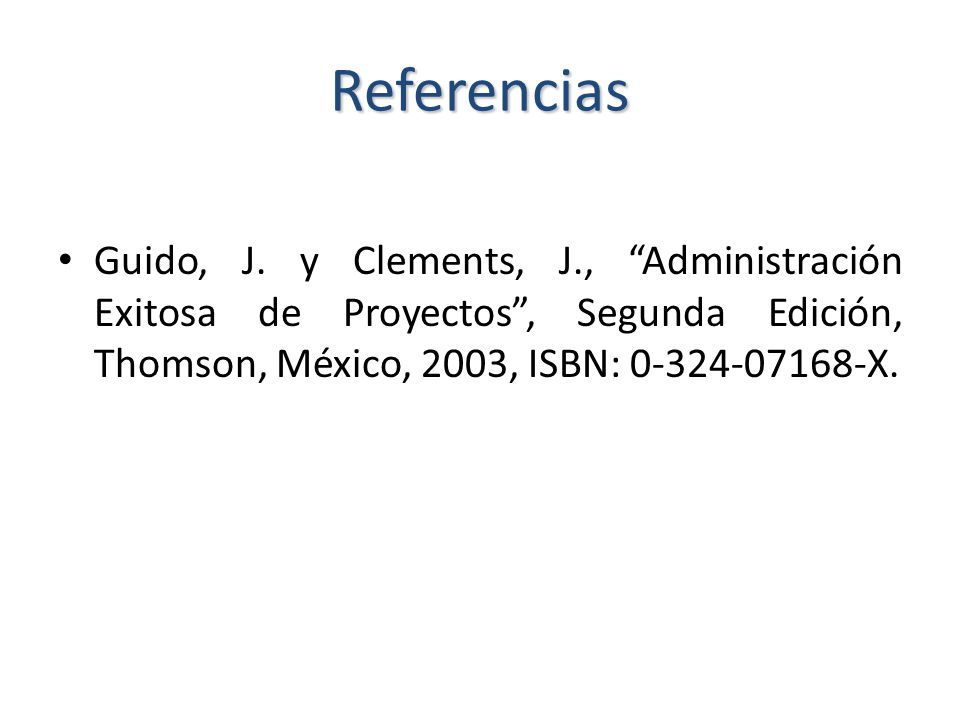 Referencias Guido, J.