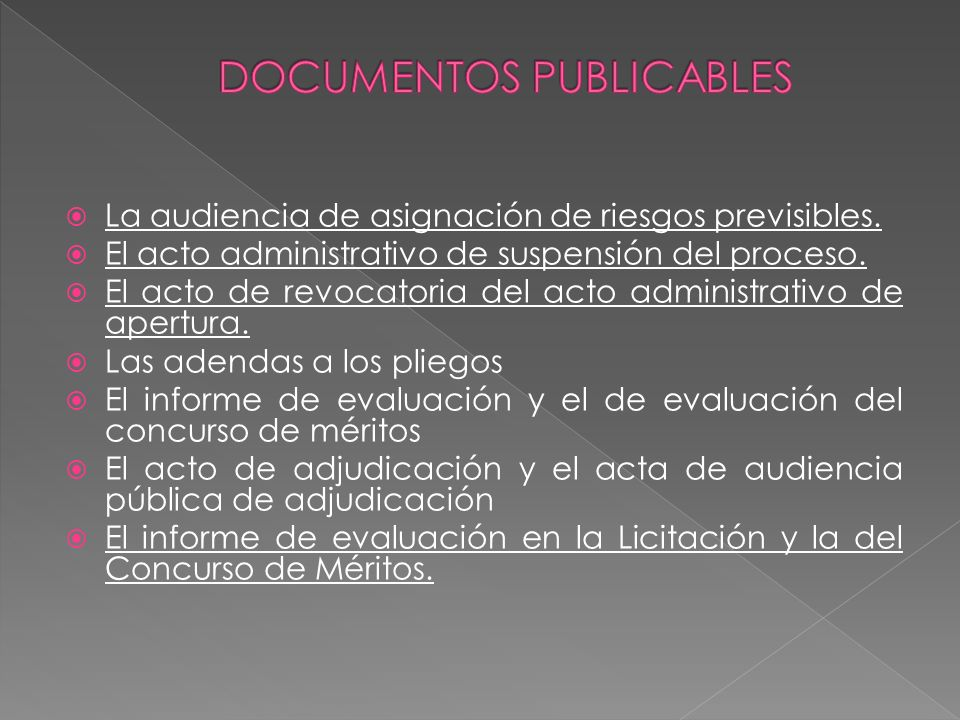 DOCUMENTOS PUBLICABLES