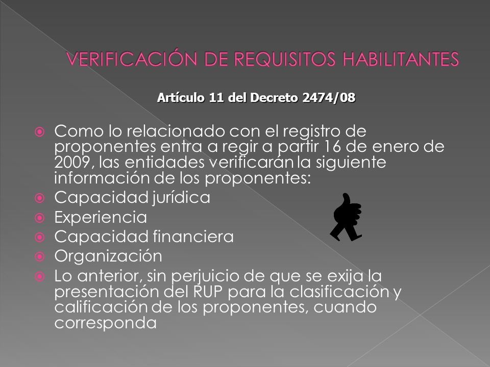 VERIFICACIÓN DE REQUISITOS HABILITANTES