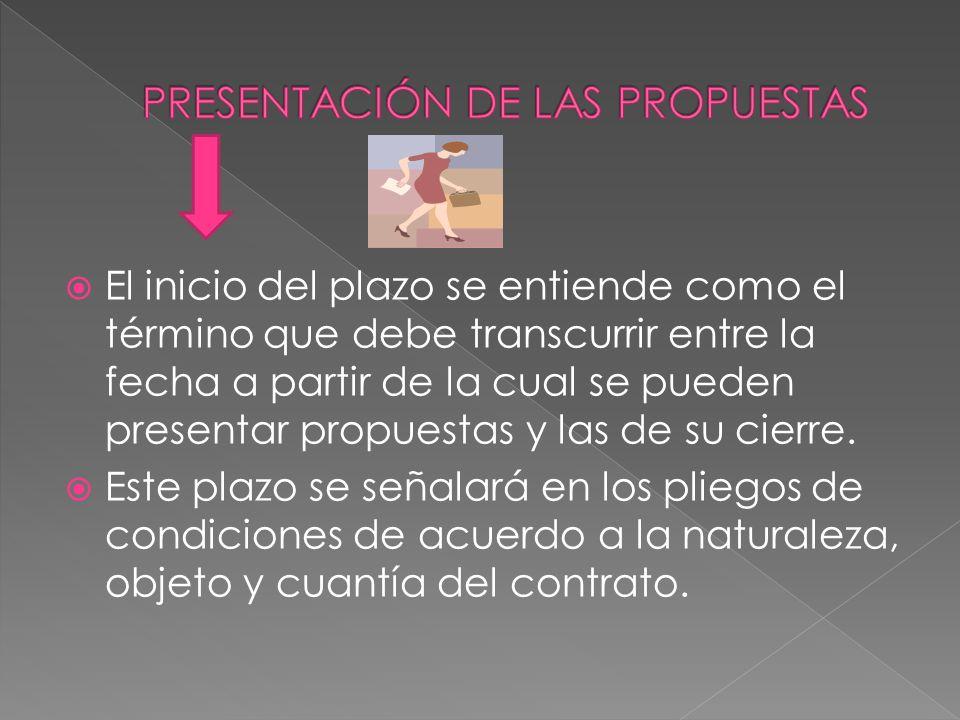 PRESENTACIÓN DE LAS PROPUESTAS