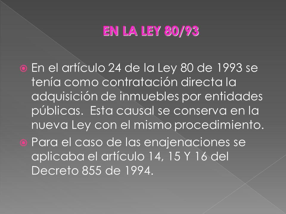 EN LA LEY 80/93