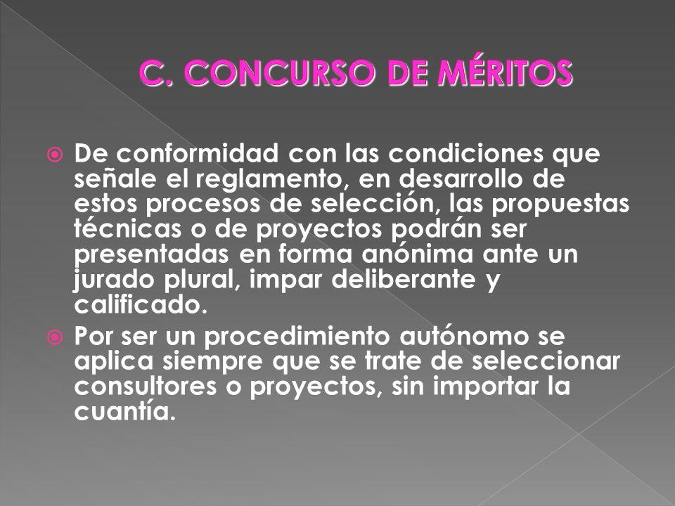 C. CONCURSO DE MÉRITOS