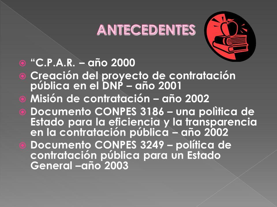 ANTECEDENTES C.P.A.R. – año 2000
