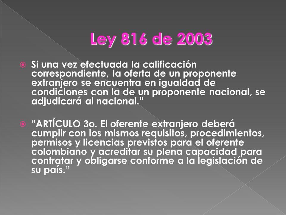 Ley 816 de 2003