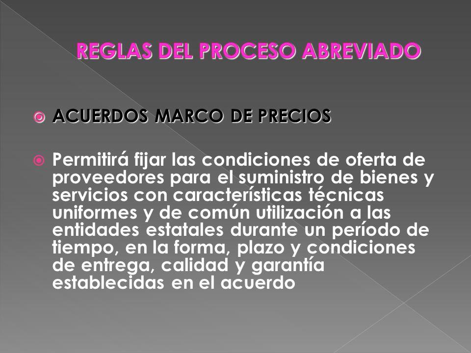 REGLAS DEL PROCESO ABREVIADO