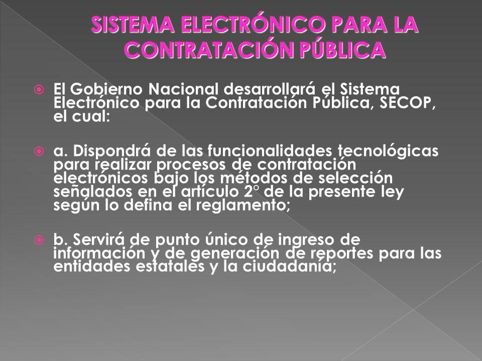 SISTEMA ELECTRÓNICO PARA LA CONTRATACIÓN PÚBLICA