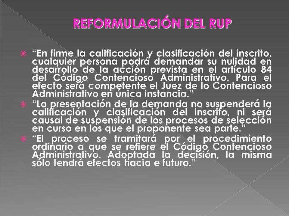 REFORMULACIÓN DEL RUP