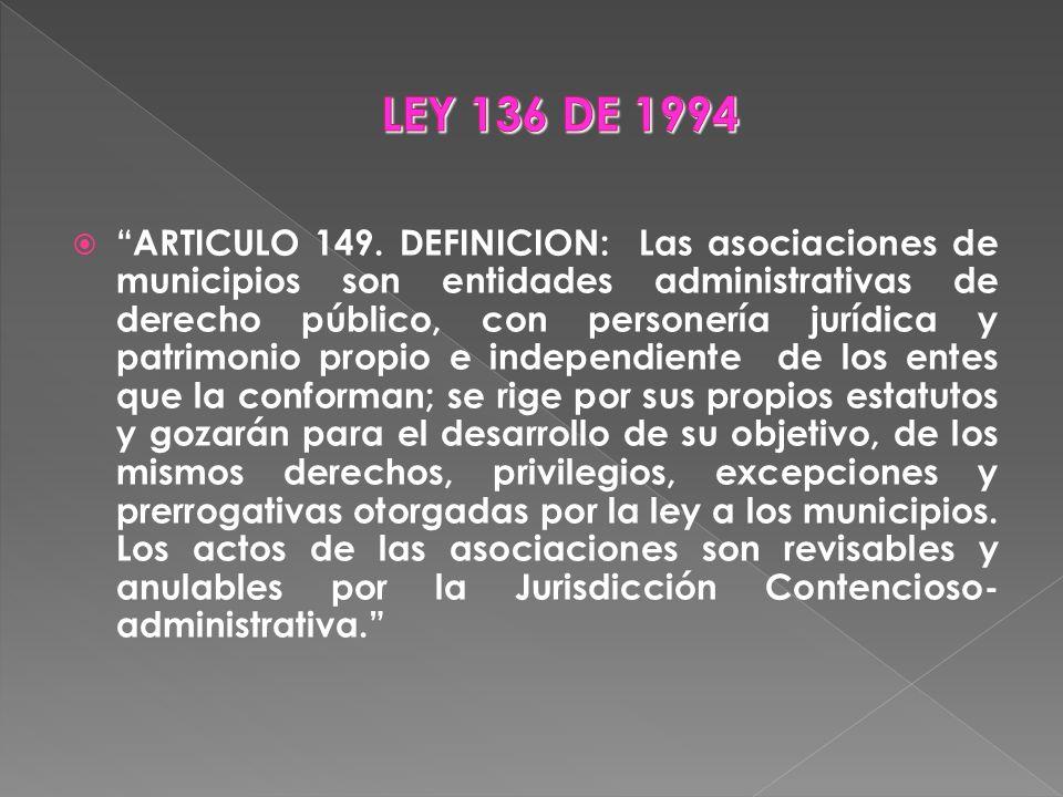 LEY 136 DE 1994