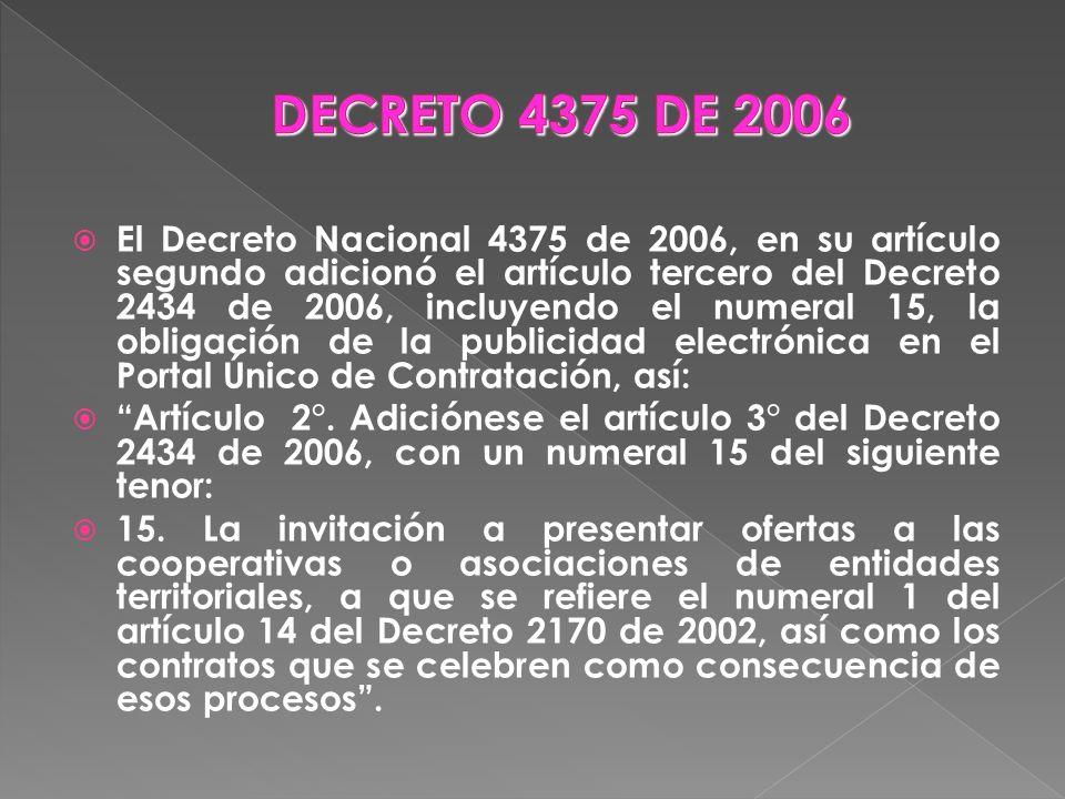 DECRETO 4375 DE 2006