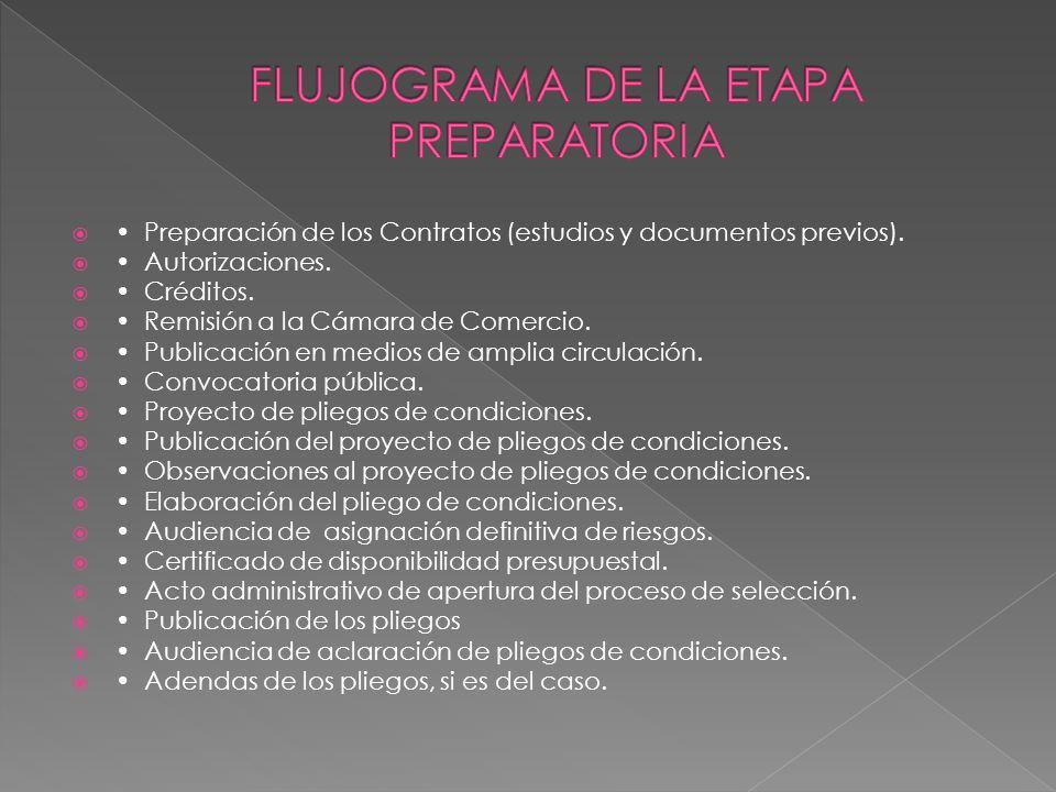 FLUJOGRAMA DE LA ETAPA PREPARATORIA