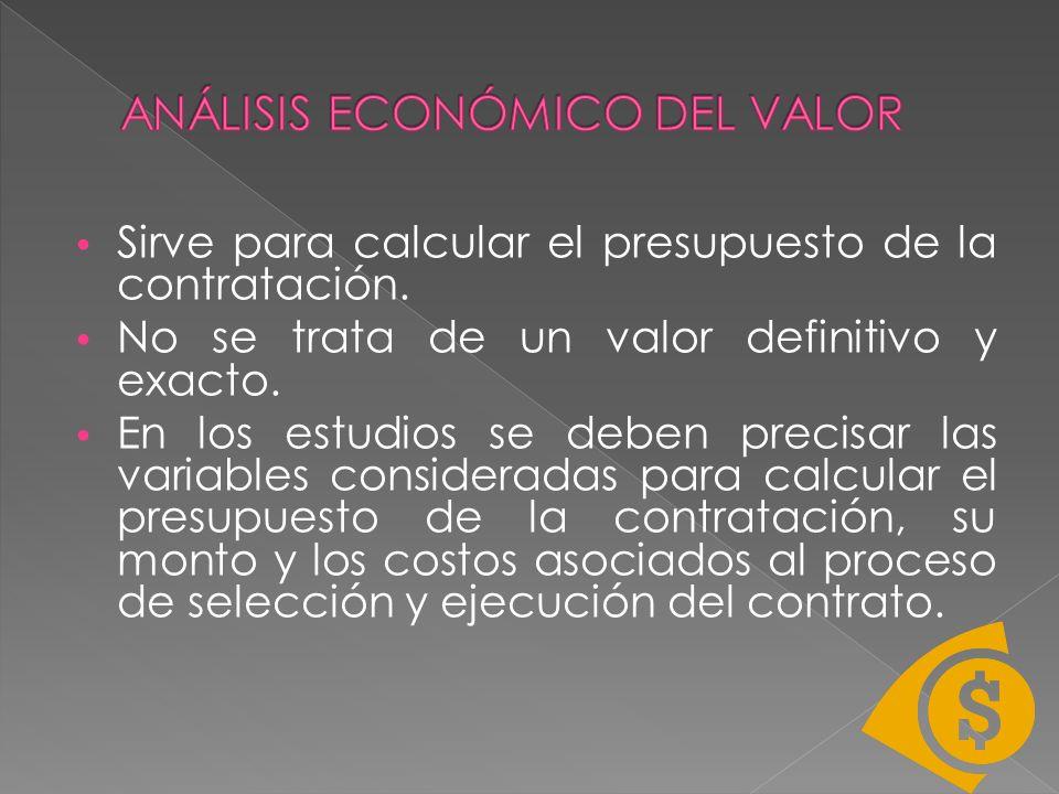 ANÁLISIS ECONÓMICO DEL VALOR