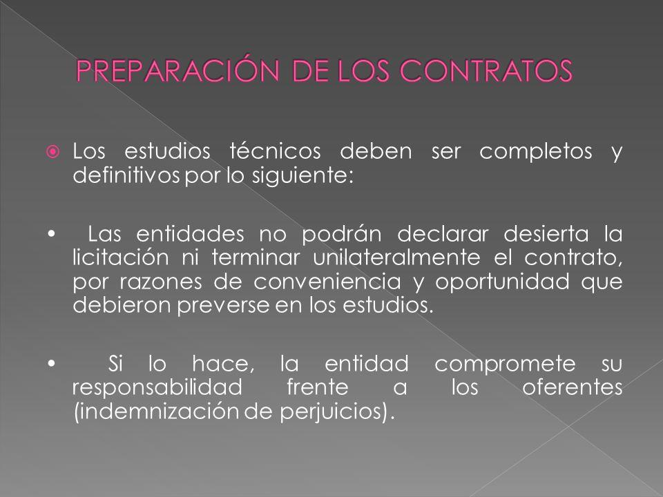 PREPARACIÓN DE LOS CONTRATOS