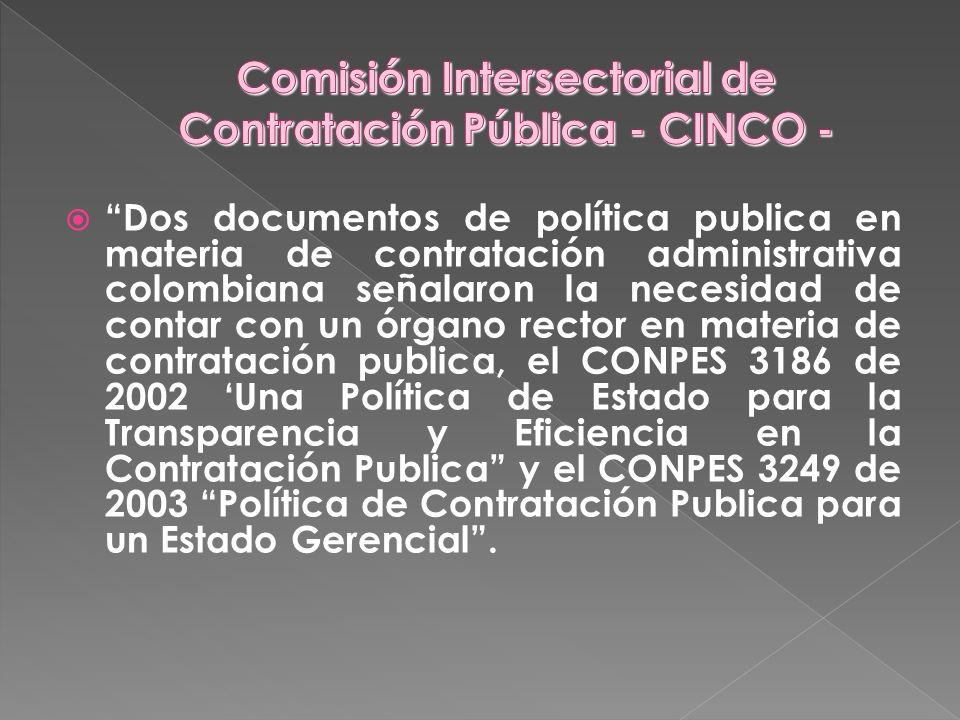 Comisión Intersectorial de Contratación Pública - CINCO -