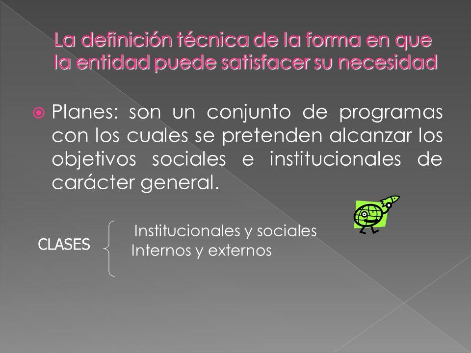 Institucionales y sociales