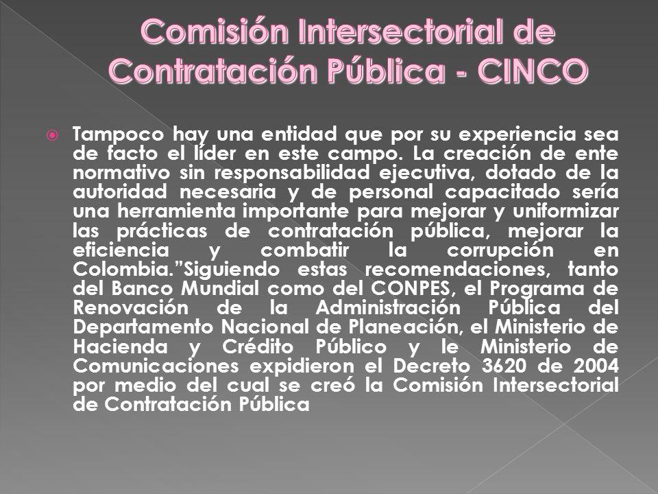 Comisión Intersectorial de Contratación Pública - CINCO